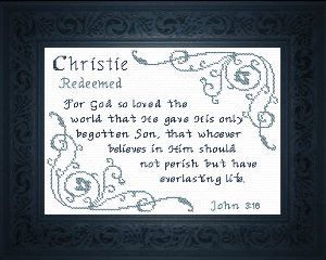 name blessings -  christie