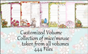 "printable stationery designs: custom stationery selection volume ""mouse or mice"""