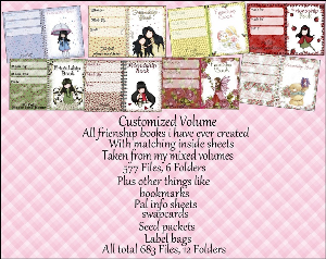 "printable stationery designs: custom stationery selection volume ""friendship books and other stuff"""