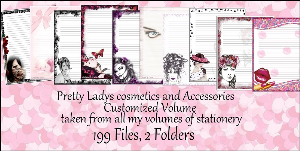 "printable stationery designs: custom stationery selection volume ""pretty ladies, cosmetics and accessories"""
