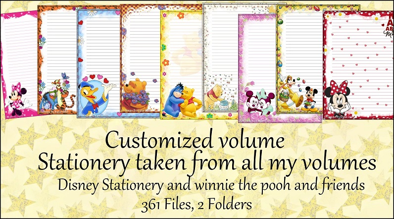 Printable Stationery Designs Custom Selection Volume Png 796x442 Disney Stationary