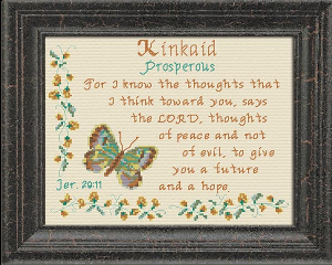 Name Blessings -  Kinkaid | Crafting | Cross-Stitch | Religious