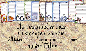 "printable stationery designs: custom stationery selection volume ""christmas and winter"""