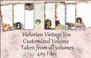 "printable stationery designs: custom stationery selection volume ""victorian vintage era"""