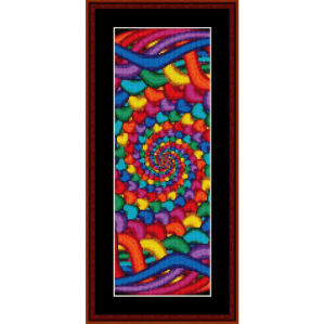 fractal 494 bookmark cross stitch pattern by cross stitch collectibles