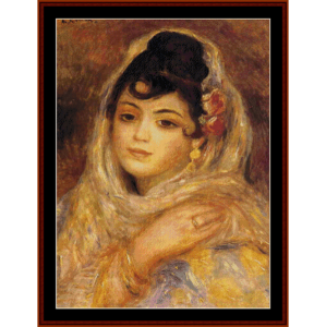 Algerian Woma, 1881 - Renoir cross stitch pattern by Cross Stitch Collectibles | Crafting | Cross-Stitch | Wall Hangings