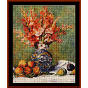flowers and fruit, 1889 - renoir cross stitch pattern by cross stitch collectibles