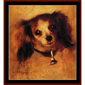 head of a dog, 1870 - renoir cross stitch pattern by cross stitch collectibles