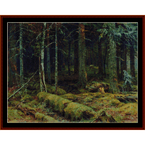 Dark Forest, 1890 - Shishkin cross stitch pattern by Cross Stitch Collectibles | Crafting | Cross-Stitch | Other