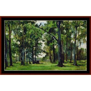oaks -shishkin cross stitch pattern by cross stitch collectibles