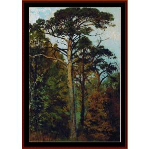 pines - shishkin cross stitch pattern by cross stitch collectibles