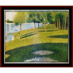 la grande jatte, 1884 - seurat cross stitch pattern by cross stitch collectibles