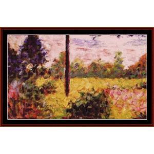 Forest of Barbizon, 1883 - Seurat cross stitch pattern by Cross Stitch Collectibles | Crafting | Cross-Stitch | Wall Hangings