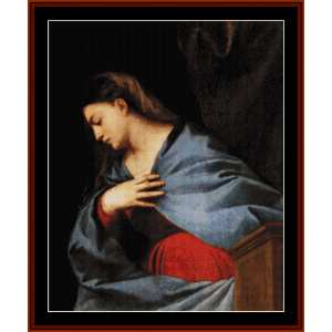 the resurrection virgin, 1522 - titian cross stitch pattern by cross stitch collectibles