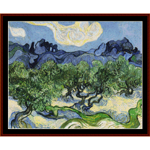 The Apilles with Olive Trees - Van Gogh cross stitch pattern by Cross Stitch Collectibles | Crafting | Cross-Stitch | Wall Hangings