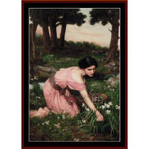 Lap of Flowers, 1910 -Waterhouse cross stitch pattern by Cross Stitch Collectibles | Crafting | Cross-Stitch | Other