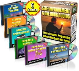 subliminal nlp audios 6-pack self improvement resell