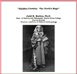Aleister Crowley:  The Devil's Mage | Documents and Forms | Research Papers