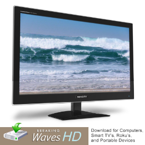 ocean shore waves ambient video in hd