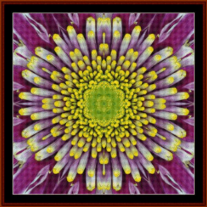 fractal 497 cross stitch pattern by cross stitch collectibles