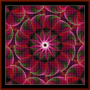 fractal 498 cross stitch pattern by cross stitch collectibles