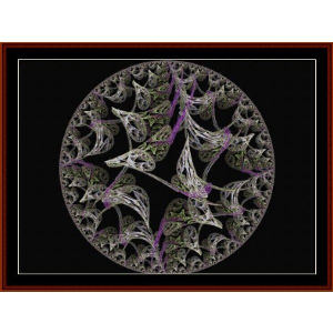 fractal 499 cross stitch pattern by cross stitch collectibls