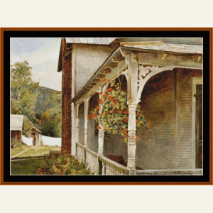 Side Porch - Americana Ltd. Edition cross stitch pattern by Cross Stitch Collectibles | Crafting | Cross-Stitch | Wall Hangings