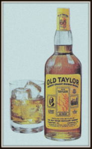 old taylor bourbon magazine ads package