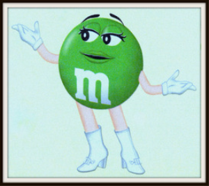 m&m's candy magazine ads package
