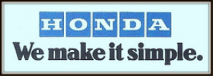 honda motorcycles magazine ads package
