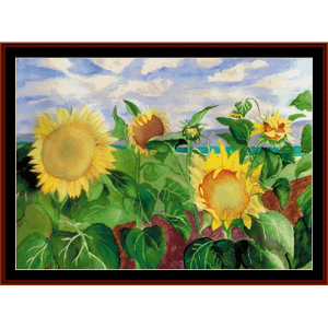 Sunflowers -Floral cross stitch pattern by Cross Stitch Collectibles | Crafting | Cross-Stitch | Wall Hangings