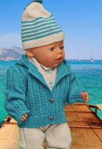 dollknittingpattern 0126d vanessa - veste, bonnet, écharpe, chaussettes et combinaison-(francais)