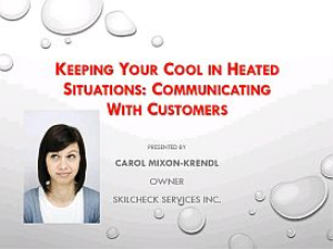 keeping your cool in heated situations
