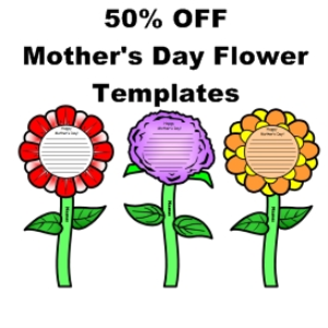 50% off mother's day flower templates