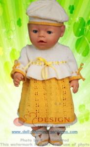DollKnittingPattern 0125D TORA - Jurkje, Muts, Broekje, Schoentjes -(Nederlands) | Crafting | Knitting | Other