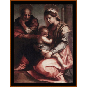 holy family barberini - del sarto cross stitch pattern by cross stitch collectibles