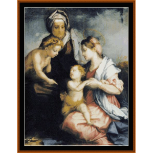 madonna & child with st. elizabeth - del sarto cross stitch pattern by cross stitch collectibles