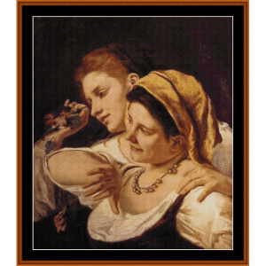 during carnival, 1872 - cassatt cross stitch pattern by cross stitch collectibles
