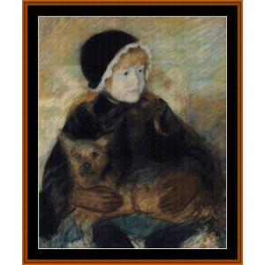 Elsie Holding a Dog - Cassatt cross stitch pattern by Cross Stitch Collectibles | Crafting | Cross-Stitch | Wall Hangings