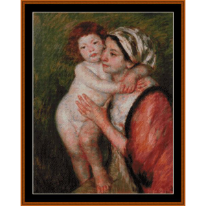 mother and child, 1914 - cassatt cross stitch pattern by cross stitch collectibles