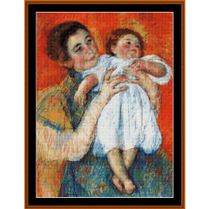 The Barefoot Child, 1897 - Cassatt cross stitch pattern by Cross Stitch Collectibles | Crafting | Cross-Stitch | Wall Hangings