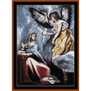 the annunciation - el greco cross stitch pattern by cross stitch collectibles