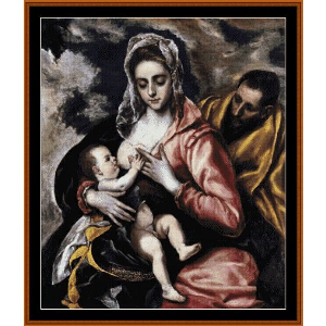 the holy family - el greco cross stitch pattern by cross stitch collectibles