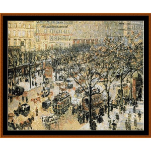 blvd. des italiens, morning sunlight - pissarro cross stitch pattern by cross stitch collectibles