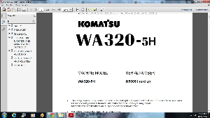 download komatsu wa320-5h avance wheel loader service repair workshop manual