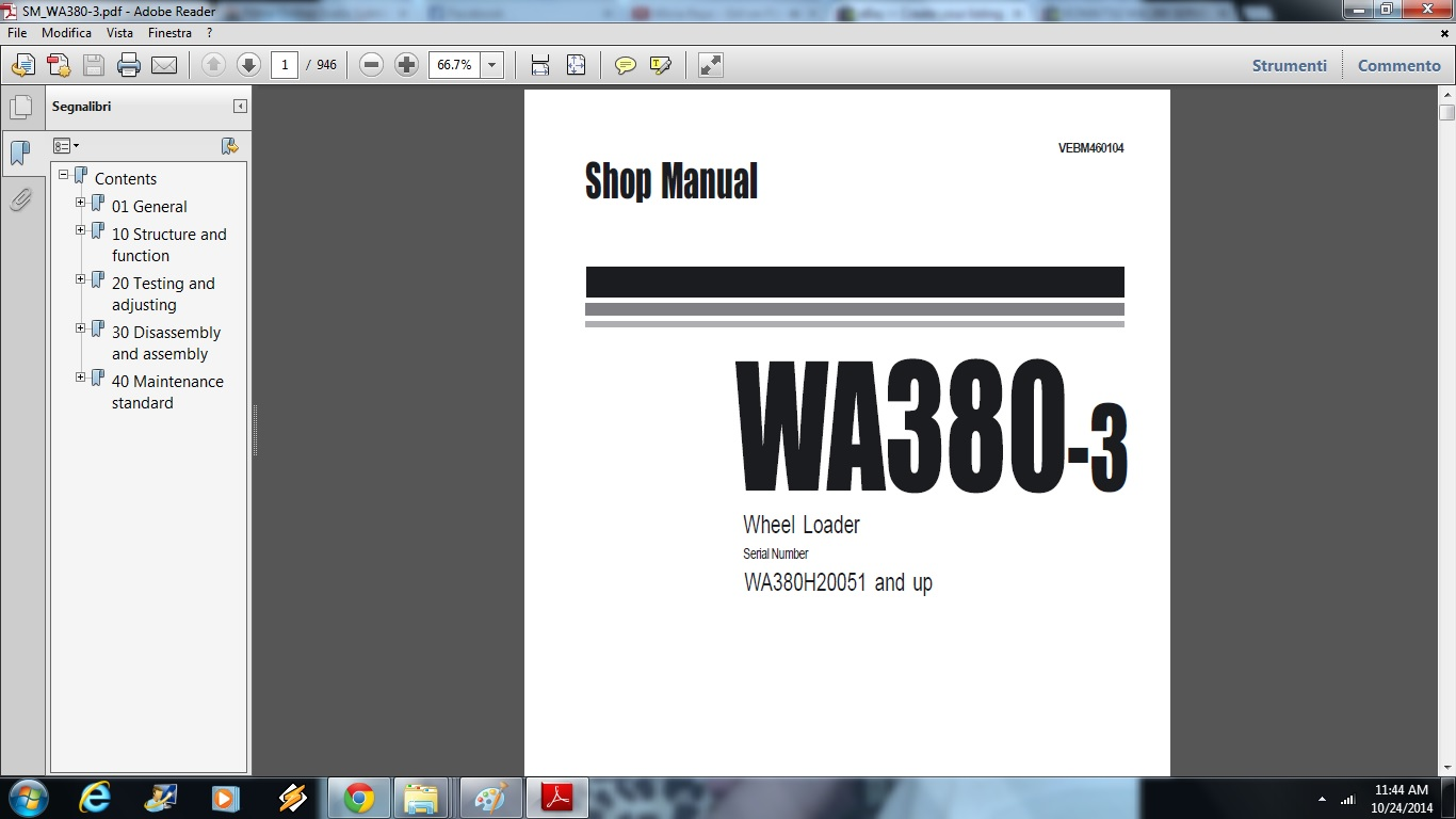 Komatsu WA380-3 Wheel Loader Service Repair Workshop Manual DOWNLOAD (SN:  H20051 and up) | Documents and Forms | Building and Construction