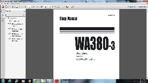 komatsu wa380-3 wheel loader service repair workshop manual download (sn: h20051 and up)
