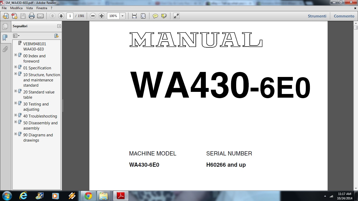 Komatsu WA430-6e0 Wheel Loader Service Repair Workshop Manual DOWNLOAD |  Documents and Forms | Building and Construction