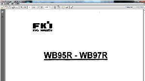 fai komatsu wb95r wb97r backhoe-loader service repair workshop manual download
