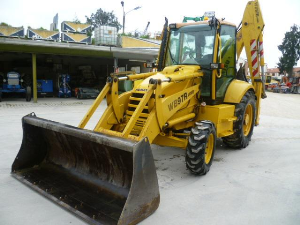 komatsu wb97s-2 backhoe loader workshop repair service manual in italian manuale  d'officina